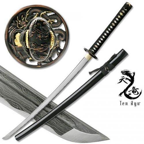 Damascus Sword of the Serpent Katana | MAZ-401