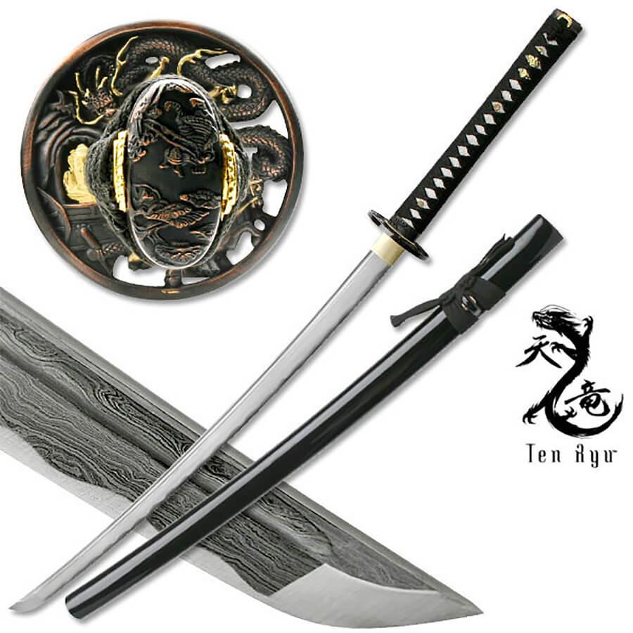 Damascus Sword of the Serpent Katana | MAZ-401