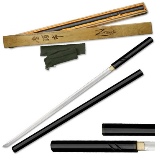 Black Hand Forged Zatoichi Samurai Sword