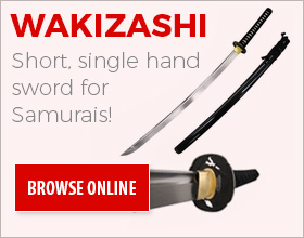 wakizashi samurai swords for sale