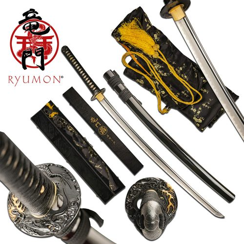 Ryumon Gold Dragon Katana | RY3207BK