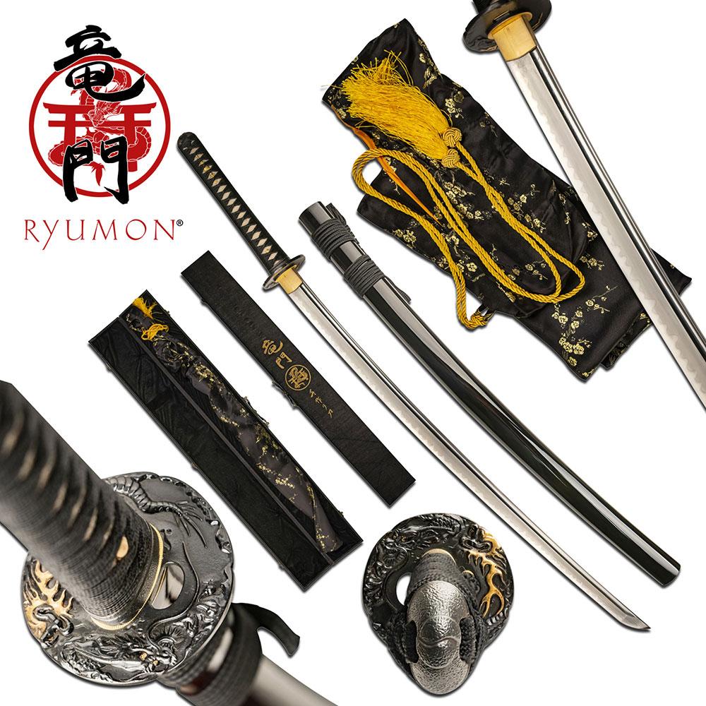 Ryumon Gold Dragon Katana | RY3207BK